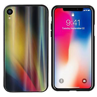 Rückseite Abdeckung Aurora Glas für Apple iPhone Xr Gelb