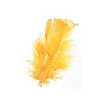 14g gula fjädrar för hantverk