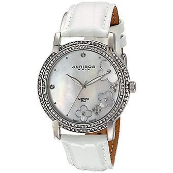 Akribos XXIV women s, Lady Diamond Swiss quartz watch, leather strap (1)