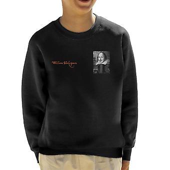 A. P. O. H William Shakespeare sort og hvid portræt kid ' s sweatshirt