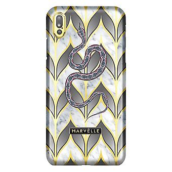 Marvêlle iPhone Xs Max Magnetic Case Golden Leaves