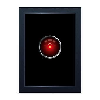 HAL oog, sci-fi film geïnspireerd kwaliteit ingelijste print-Cinema kamer man Cave art kunst aan de muur