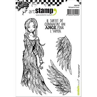 Carabelle студия «Ангел любви» цепляться за штамп, белый/прозрачный, A6