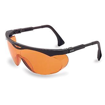 Lunettes de sécurité Uvex Genesis, cadre noir, lentille anti-brouillard orange #S1933X