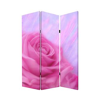 "1"" x 48"" x 72"" Multi Color Wood Canvas Flourish  Screen"