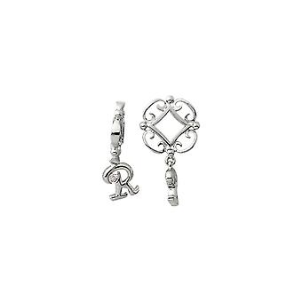 Storywheels Silver R Initial Dangle Charm S217D