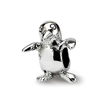 925 sterling silver polerad antik finish reflektioner SimStars barn fågel pärla charm