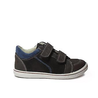 Ricosta Timmy marrón Nubuck cuero niños Rip cinta Casual Entrenador zapatos