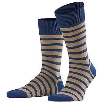 Falke selv Stripe sokker-kongeblå