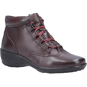 Fleet & Foster Womens Merle Lace Up Ankle Boot Burgundy
