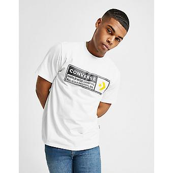 New Converse Men's Box All Star Short Sleeve T-Shirt White