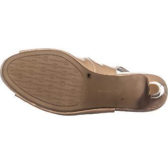 Giani Bernini Womens Laycee Patent Open Toe Slingback Heels