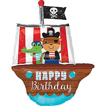 Anagram Supershape Pirate Ship Birthday Foil Balloon