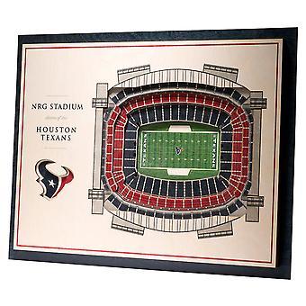 YouTheFan Wood Wall Decoration Stadium Houston Texans 43x33cm