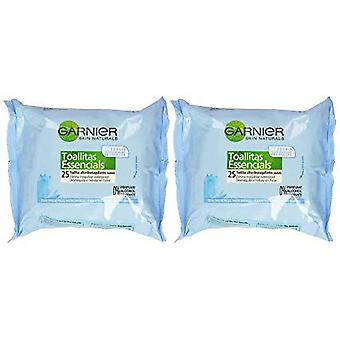 Garnier Essentials Cleansing Wipes Goodbye Dry 25 + 25 Units