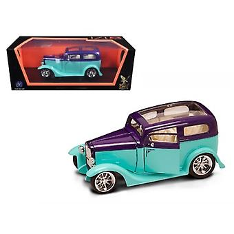 1931 Ford Model A Sedan Green/Purple 1/18 Diecast Model Car by Road Signature