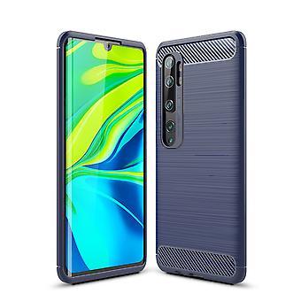 Xiaomi Mi Note 10 Pro TPU Case Carbon Fiber Optics Brushed Protective Case Blue