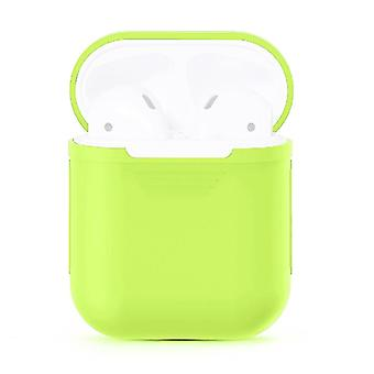 For Apple Airpods Storage Bag Fluorescent Green Silicone Protective Box