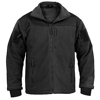 Rothco Spec Ops tactische fleece jas, zwart, L, zwart, grootte groot