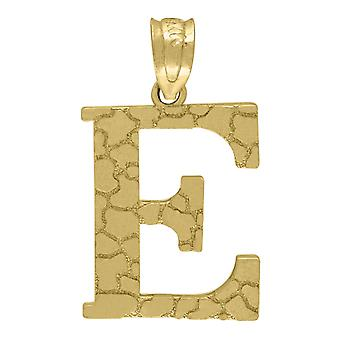10k Two-tone Gold Unisex Initial Letter M Charm Pendant Measures 21.4x11.70mm Wide