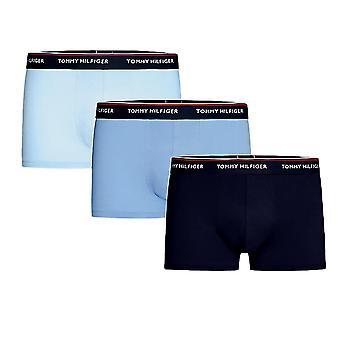 Tommy Hilfiger Premium Essential Stretch Trunk 3 Pack - Cornflower Blue/Peacoat/Cashmere