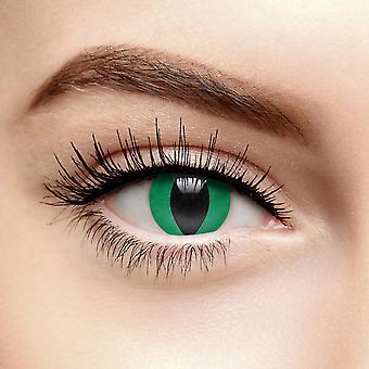 Green Cobra Eye Coloured Contact Lenses (Daily)