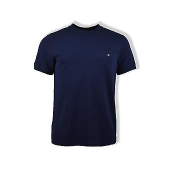 Fred Perry Pocket Detail Pique T-Shirt (Carbon Blue)