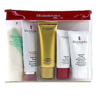 Daily Beauty Essentials Set: Purifying Cream Cleanser+ Eight Hour Cream+ Eight Hour Cream SPF 15+ Ei 5pcs