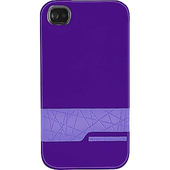 Body Käsine Diamond Snap-On tapauksessa Apple iPhone 4/4s - Violetti/Violetti