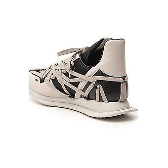 Rick Owens Ru20s7813com1009104 Men's Grey Leather Sneakers
