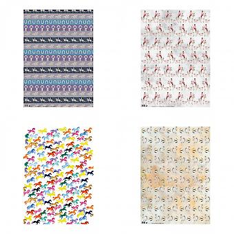 Deckled Edge Gift Wrap (Pack Of 2)