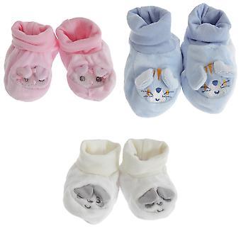Nursery Time Baby Animal Face Booties