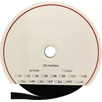 FASTECH® T01025999902225 Krok-och-slinga tejp stick-on (akryl lim) Loop pad (L x W) 25000 mm x 25 mm Svart 25 m