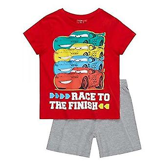 Disney cars boys pyjama set short sleeve red