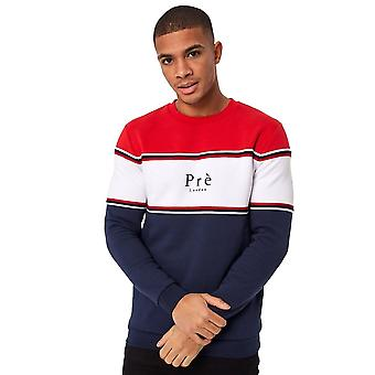 Pre London | College Crew Sweat Top - Red/white/navy