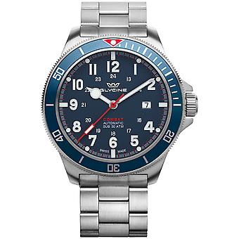 Combat Analog Men's Automatic Watch with GL0254 Stainless Steel Bracelet