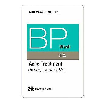 Biocomp pharma benzoyl peroxide wash 5%, acne treatment, 5 oz