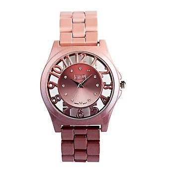 Eton Round See through surround Case, Pink Ombre Fashion Watch 3265J-PK
