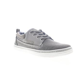 Ben Sherman Brahma Oxford Mens Grå Canvas Låg Top Sneakers Skor