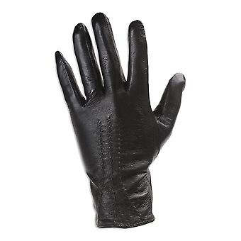 Quivano Womens Leather Gloves - 3 Point Design - Classic Style With Soft Fabric Lining # 337-200