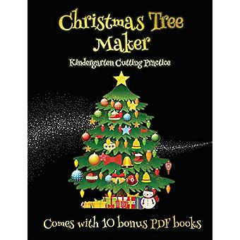 Kindergarten Cutting Practice (Christmas Tree Maker) - This book can b