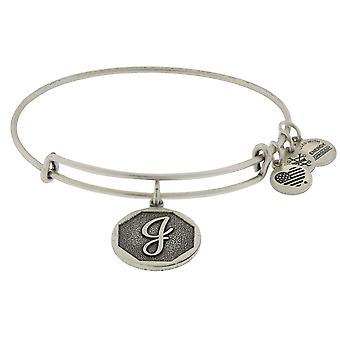 Alex and Ani Initial J Charm Bangle Bracelet - A13EB14JS