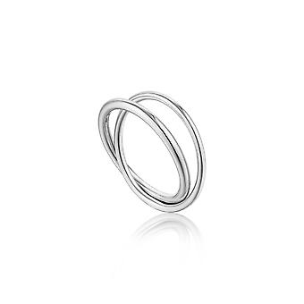 Ania Haie Silver Rhodium Plated Modern Double Wrap Ring R002-01H