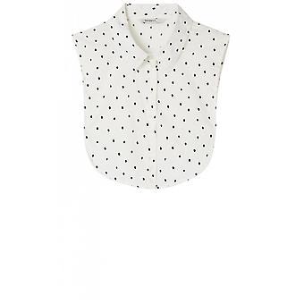 Sandwich kleding lente witte spot shirt kraag