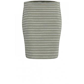 b.young Sea Green Striped Skirt