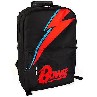 Rock Sax David Bowie Black Rucksack Aladdin Sane Lightning Bolt Backpack