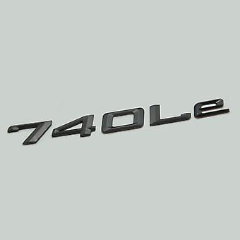 Matt Black 740Le Car Model Rear Boot Number Letter Sticker Decal Badge Emblem For 7 Series