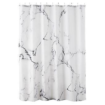 YANGFAN Marble Printed Polyester Waterproof Bath Shower Curtain