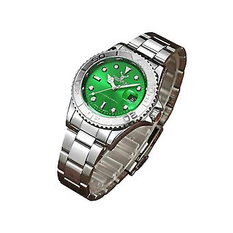 Genuine Deerfun Homage Watch Green Face Silver Watches Analogue Quick UK Dispatch