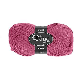 50g 3-Ply Antique Rose Acrylic Yarn for Kids Knitting and Sewing Crafts
